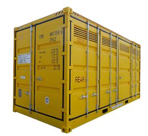 Container dédié aux matières dangereuses