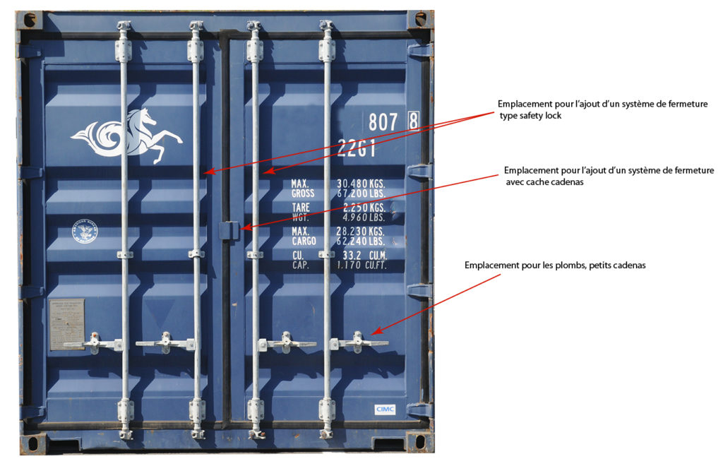 Fermetures pour containers