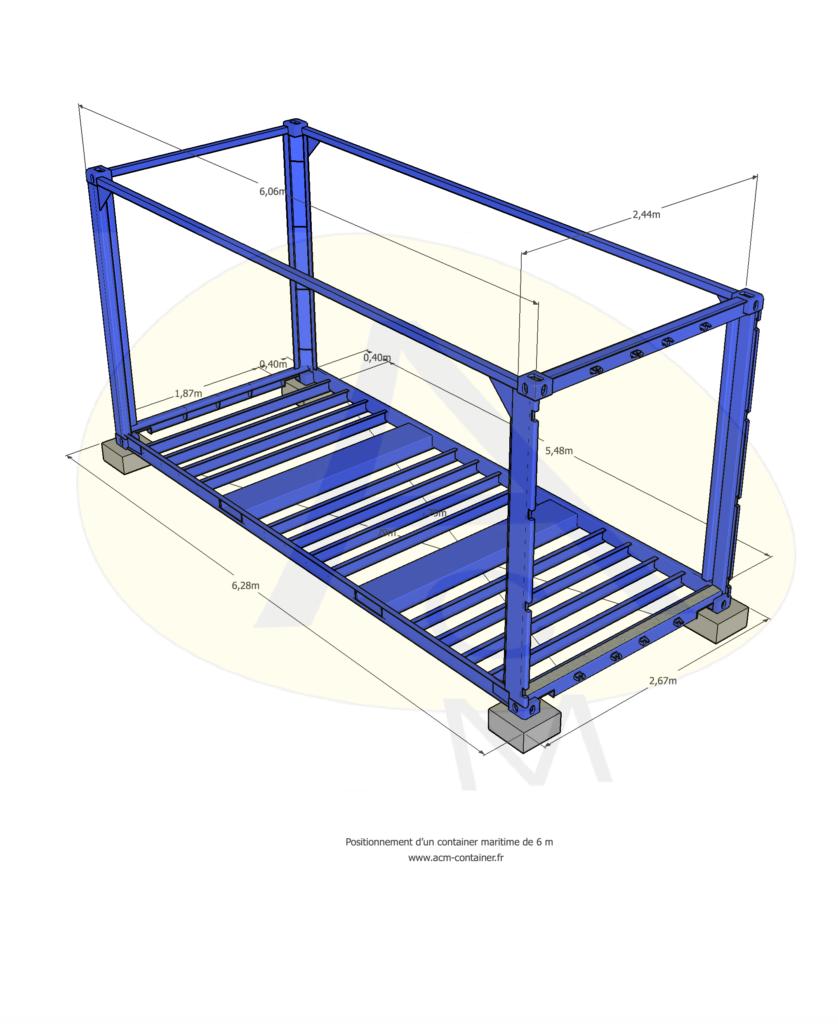 Plan pour container maritime 6m