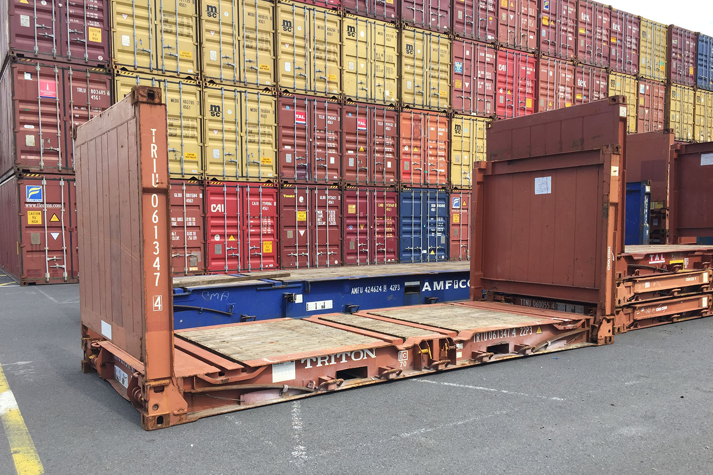 Container Flat de 20'