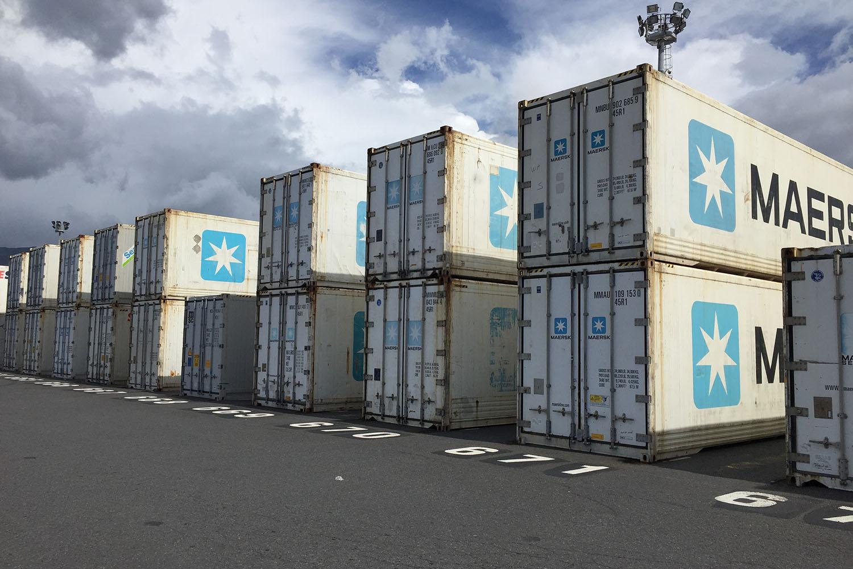 Containers Frigo à quai