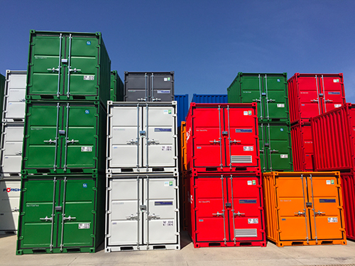 Stockage de containers