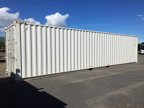 Container 12m HC blanc