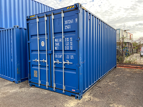 Container maritime neuf bleu 20 pieds