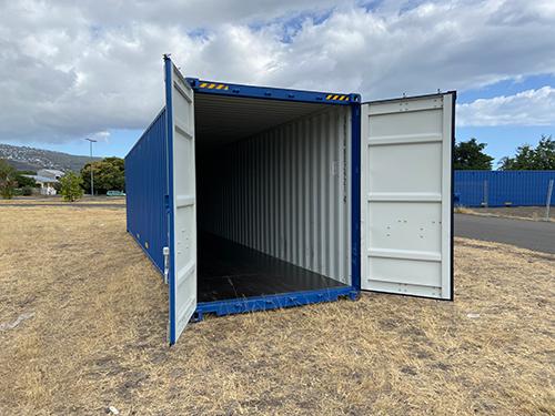 Container de 12m HC bleu