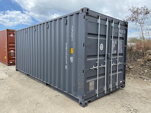 Container maritime neuf gris